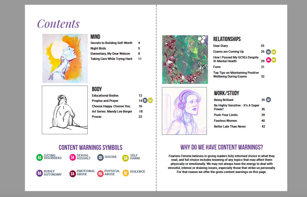 Optimal Contents Pages