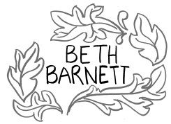 "The name ""Beth Barnett"" in leaves"